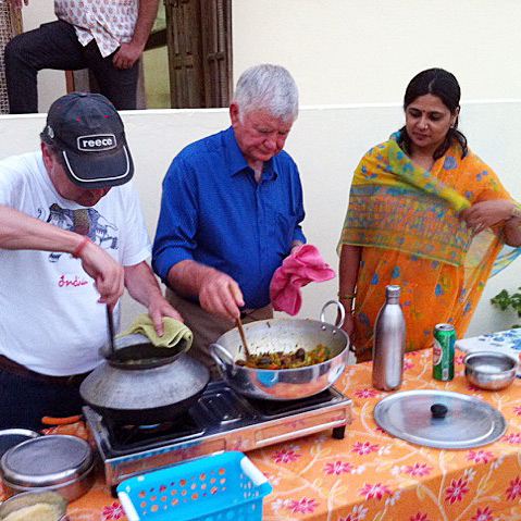 Cooking with locals